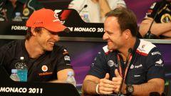 GP Monaco 2011, Monte Carlo, Jenson Button (McLaren), Rubens Barrichello (Williams)