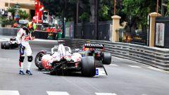 GP Monaco 2021, Monte Carlo: Mick Schumacher (Haas) a muro nelle FP3