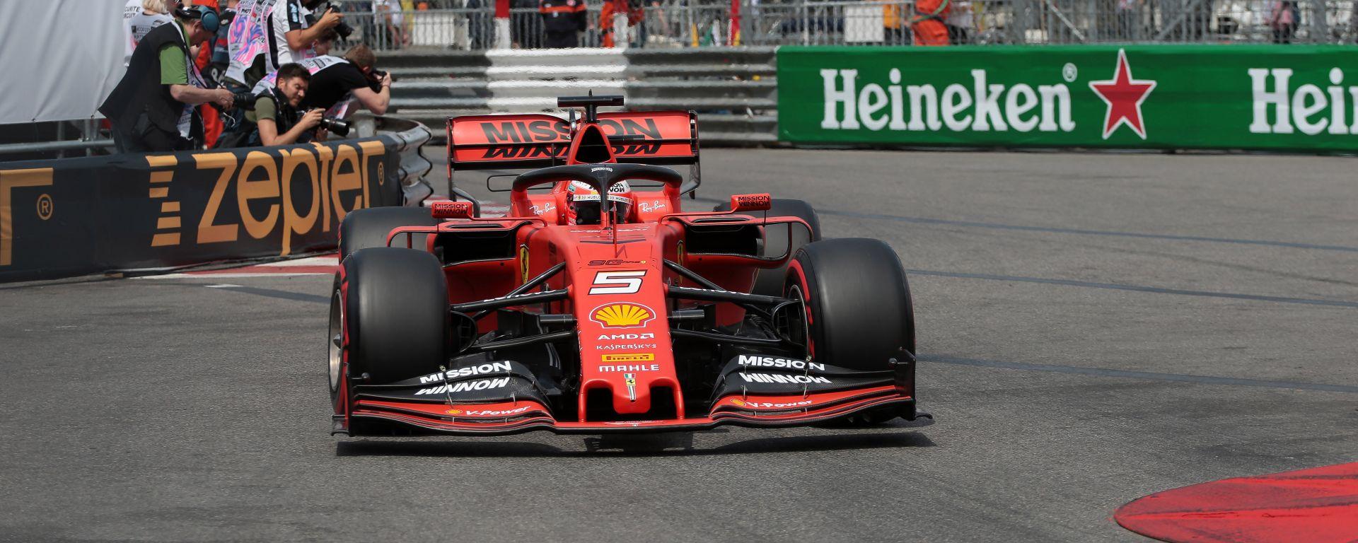 """GP Monaco, Vettel solo quarto: """"Fatichiamo con le gomme"""""""
