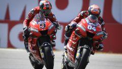 GP Olanda 2019, Assen, i due alfieri della Ducati, Andrea Dovizioso e Danilo Petrucci, in bagarre