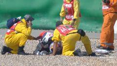 GP Portogallo 2021, l'incidente di Jorge Martin (Ducati Pramac) nelle FP3