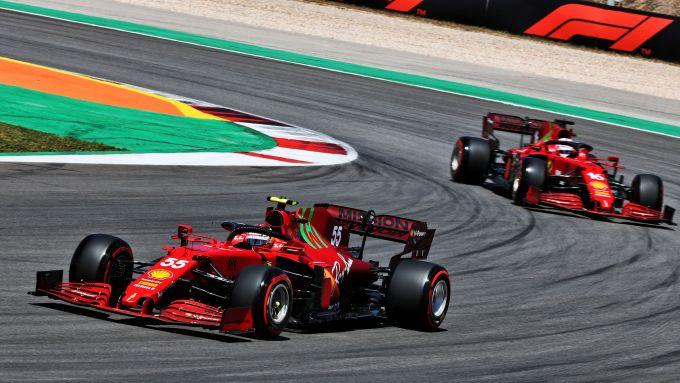GP Portogallo 2021, Portimao: Carlos Sainz e Charles Leclerc (Scuderia Ferrari)