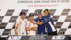 GP Qatar 2013: Marquez, Pedrosa, Lorenzo e Rossi insieme in conferenza stampa