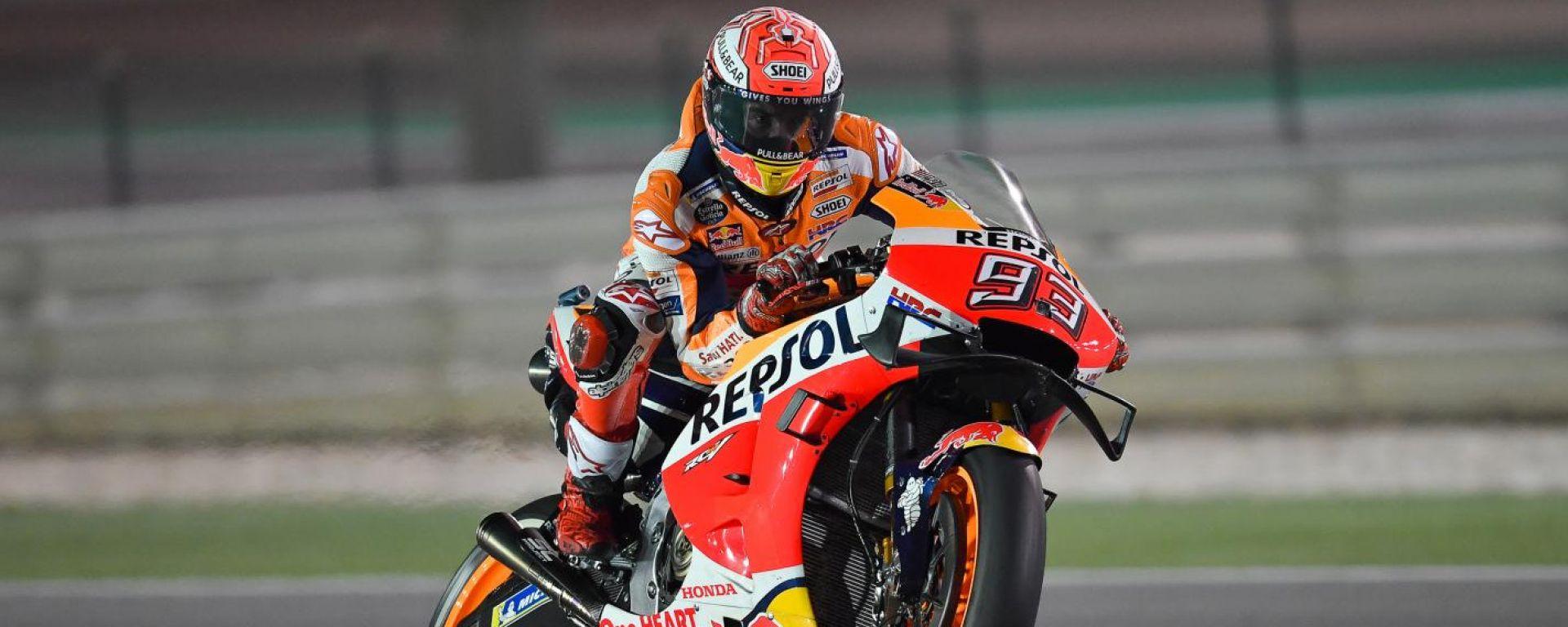 GP Qatar 2019, Marquez subito da record nelle prove libere del venerdì