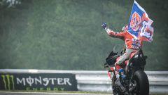 GP Rep. Ceca 2018, Andrea Dovizioso festeggia la vittoria di Brno