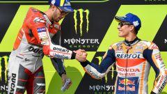 GP Rep. Ceca 2018, Dovizioso e Marquez si congratulano dopo il podio di Brno