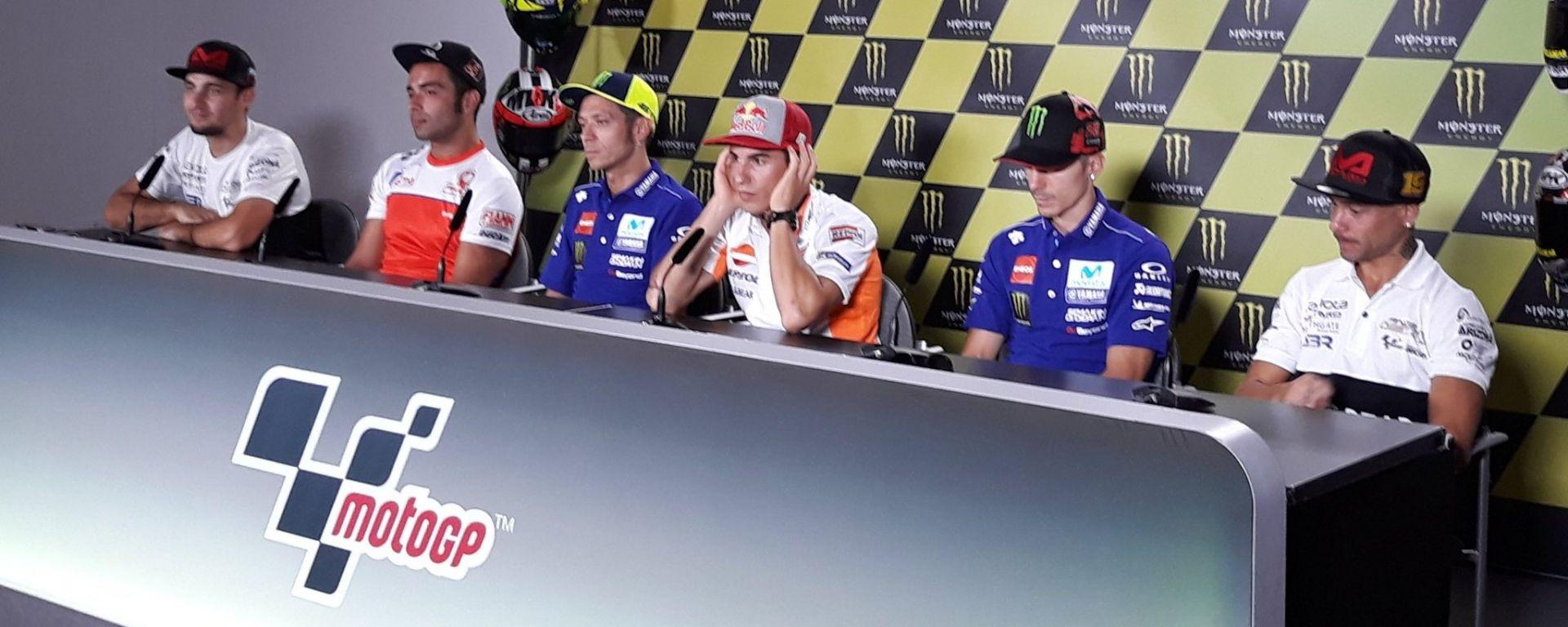GP Repubblica Ceca 2018, Brno: la conferenza stampa con Abraham, Petrucci, Rossi, Marquez, Vinales e Bautista