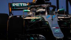 GP Singapore 2018, Bottas in azione con la sua Mercedes
