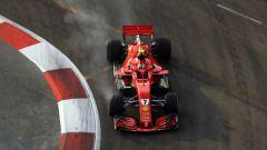 GP Singapore 2018, FP3, Kimi Raikkonen in azione con la sua Ferrari