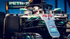 GP Singapore 2018, FP3, Lewis Hamilton in azione con la sua Mercedes