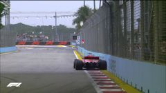 GP Singapore 2018, FP3, Vettel sfiora di nuovo le barriere con la sua Ferrari