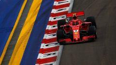 GP Singapore 2018, qualifiche: Kimi Raikkonen in azione con la sua Ferrari
