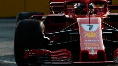 GP Singapore 2018, Raikkonen in azione con la sua Ferrari