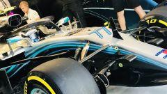 Gp Singapore 2018, Valtteri Bottas nel box della Mercedes