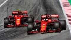 GP Spagna 2019, Barcellona: Sebastian Vettel e Charles Leclerc (Ferrari)