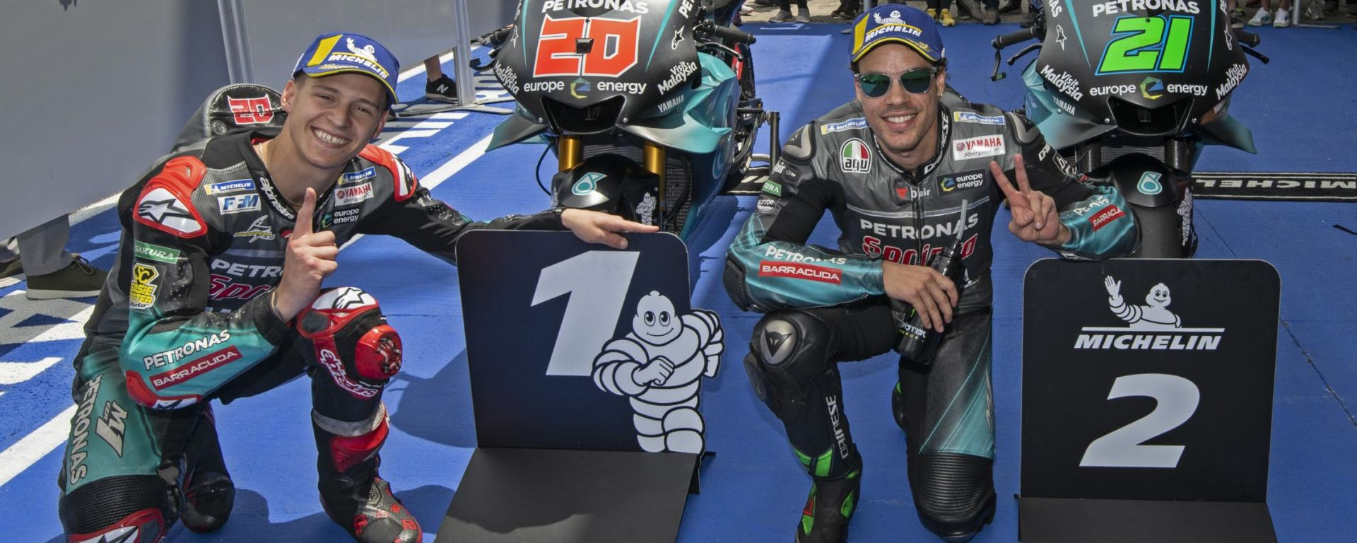 GP Spagna 2019, Fabio Quartararo e Franco Morbidelli (Yamaha)