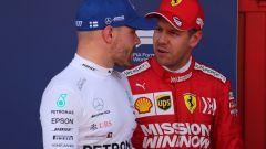 GP Spagna 2019, qualifiche, Sebastian Vettel (Ferrari) e Valtteri Bottas (Mercedes)