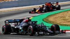 GP Spagna 2020, Barcellona: Lewis Hamilton (Mercedes) e Max Verstappen (Red Bull)
