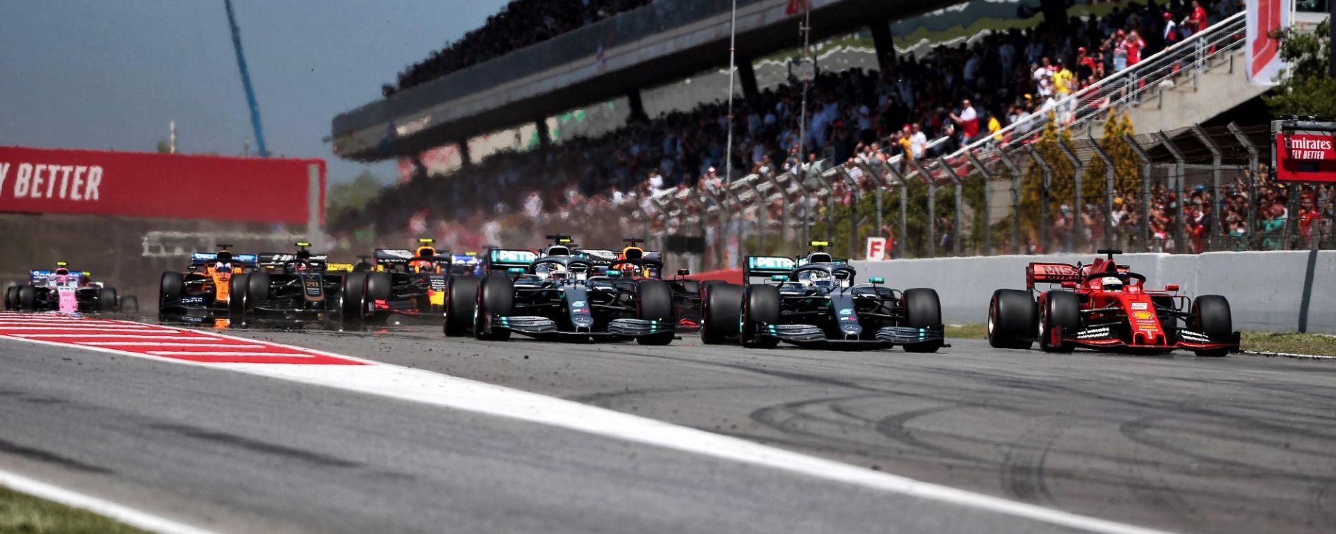 GP Spagna, Barcellona - La partenza della gara 2019