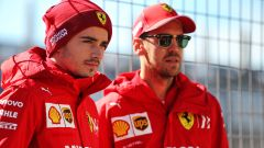 GP Stati Uniti 2019, Austin: Charles Leclerc e Sebastian Vettel (Ferrari)