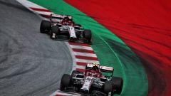 GP Stiria 2020, Spielberg: Antonio Giovinazzi e Kimi Raikkonen (Alfa Romeo Racing)