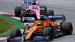 GP Stiria 2020, Spielberg: Lando Norris (McLaren) e Sergio Perez (Racing Point)