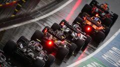 GP Stiria 2020, Spielberg: le monoposto in fila in pitlane