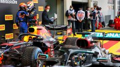 GP Stiria 2020, Spielberg: Max Verstappen (Red Bull) e Carlos Sainz (McLaren)