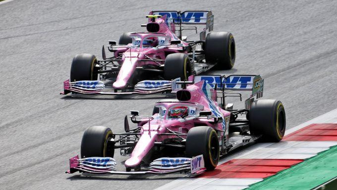 GP Stiria 2020, Spielberg: Sergio Perez e Lance Stroll (Racing Point)