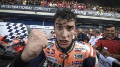 GP Thailandia 2018, Marc Marquez festeggia la vittoria di Buriram