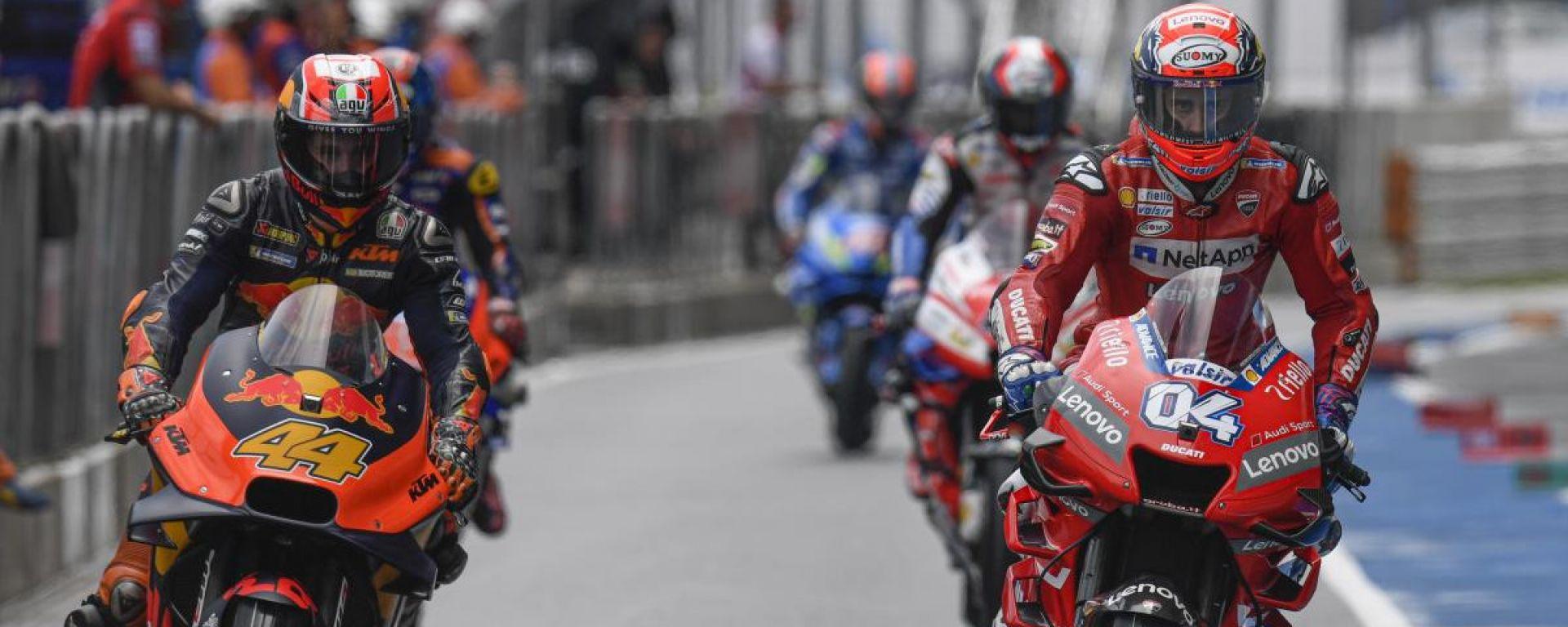 GP Thailandia 2019, Buriram: Pol Espargaro (KTM) e Andrea Dovizioso (Ducati)