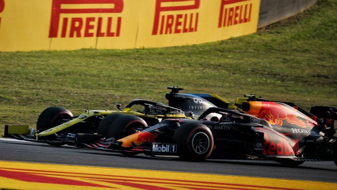 GP Toscana 2020, Mugello: Daniel Ricciardo (Renault) e Alex Albon (Red Bull)