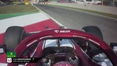 GP Toscana 2020, Mugello: Raikkonen taglia la linea d'ingresso in pitlane e prende una penalità