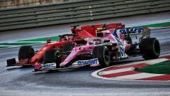 GP Turchia 2020, Istanbul Park - Sebastian Vettel (Ferrari) e Lance Stroll (Racing Point)