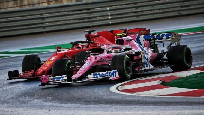 GP Turchia 2020, Istanbul Park - Sebastian Vettel (Ferrari) e Sergio Perez (Racing Point)