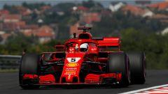 F1 2018, GP Ungheria, FP2: Vettel porta la Ferrari in vetta, Mercedes in difficoltà