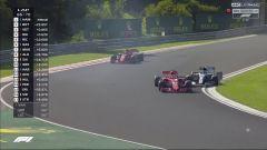 GP Ungheria 2018, Il sorpasso con contatto tra Vettel e Bottas