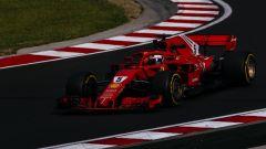 GP Ungheria 2018, Kimi Raikkonen in azione con la sua Ferrari