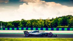 GP Ungheria 2018, Lewis Hamilton in azione con la sua Mercedes