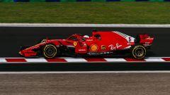 GP Ungheria 2018, Sebastian Vettel in azione con la sua Ferrari