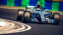 GP Ungheria 2018, Valtteri Bottas in azione con la sua Mercedes