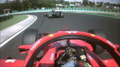 GP Ungheria 2018, Vettel torna in pista dietro a Bottas in seguito al pit-stop