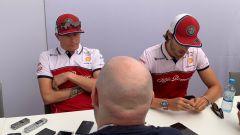GP Ungheria 2019, Antonio Giovinazzi e Kimi Raikkonen in conferenza stampa