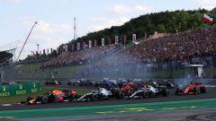 GP Ungheria 2019, la partenza
