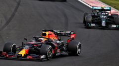 GP Ungheria 2020, Budapest: Max Verstappen (Red Bull) e Valtteri Bottas (Mercedes)