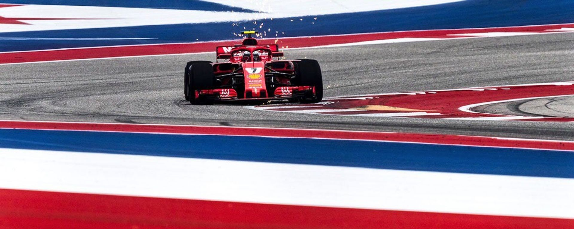 GP USA 2018, Austin, Kimi Raikkonen in azione con la sua Ferrari