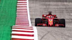 GP USA 2018, Austin, Sebastian Vettel in azione con la sua Ferrari