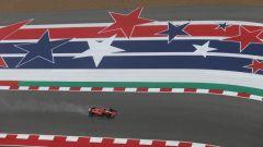 GP USA 2018, FP2 Austin, Kimi Raikkonen in azione con la Ferrari