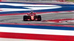 GP USA 2018, Kimi Raikkonen in azione con la sua Ferrari ad Austin