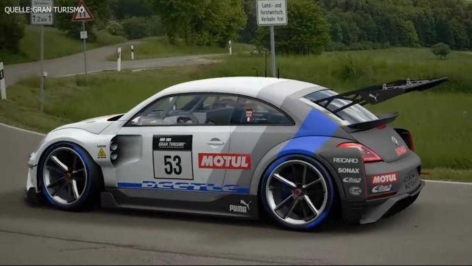 Gran Turismo Sport Beetle, vista 3/4 posteriore